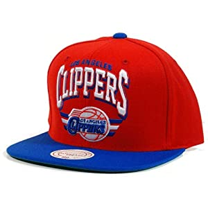 Los Angeles Clippers Mitchell & Ness The Stadium Snapback 2 Tone Arch Vintage Red... by Mitchell & Ness