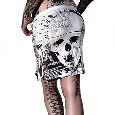 Yakuza Minirock Damen GKB 627 Indian Skull weiß