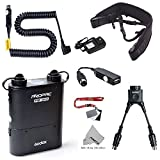 Fomito Godox PB960 Portable Extended Flash Power Battery Pack Kit Dual Output for Nikon SB910, SB900, SB800, SB28 EURO, SB28DX, SB80DX,for AD600 AD360 II AD180, for Mobile phone Black