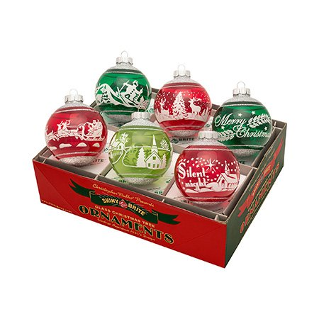 Christopher Radko Retro Holiday Splendor Ornaments Pack of 6