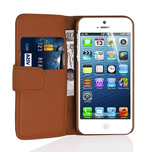 英国Snugg製 iPhone6用 PUレザー手帳型ケース ブラウン
