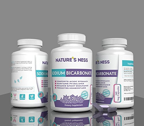 Natures Ness - Sodium Bicarbonate, 240 Veg Capsules (Baking Soda Tablets compare prices)