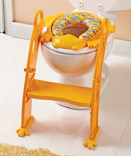 Yellow Karibu Potty Seat with Step Ladder