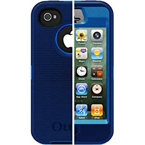 Otterbox Defender Series Hybrid Case & Holster for iPhone 4 & 4S - Ocean/Night Blue