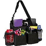 Zone Tech 5 Pocket Classic Black Durable Rugged Pack Cloth Premium Quality compact Car Seat Driver Headrest Organizer