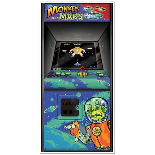 Arcade Game Door Cover Party Accessory (1 count) (1/Pkg)