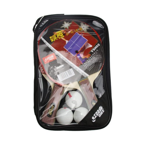 DHS Victory 2 Player (FL) Recreational Table Tennis Racket Set