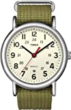 Timex Original Unisex Quartz Watch with Beige Dial Analogue Display and Brown Nylon Strap - T2N651