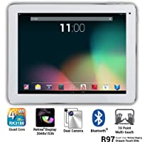Dragon Touch® 9.7'' Google Android 4.2 Jelly Bean Quad Core Retina Screen Tablet MID PC, Rockchips RK3188 Quad Core Cortex A9 CPU 1.8GHz, 2GB RAM, 16GB HDD, Retina 10-Point Multi-Touch Screen 2048x1536 Resolution, Front Camera + Rear Camera, Bluetooth 4.