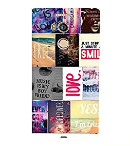 PrintVisa Corporate Print & Pattern Quotes 3D Hard Polycarbonate Designer Back Case Cover for Gionee E8