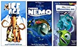 Ice Age / Finding Nemo / Monsters Inc. VHS