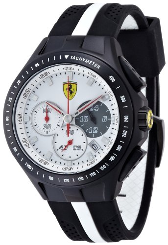 Scuderia Ferrari Gents SF103 Black and White 'Textures Of Racing' Watch 0830024