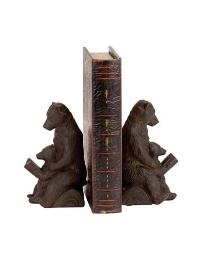 Pair of Bear Bookends, Brown