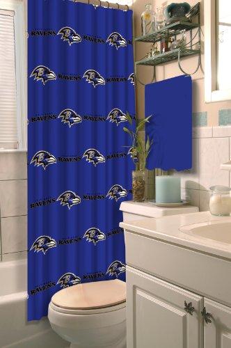 Team Curtains Teamcurtainscom: NFL Baltimore Ravens Shower Curtain Football Team Logo