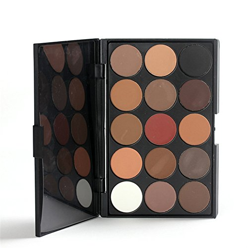 Pure Vie® 15 Colori Palette Ombretti Cosmetico Tavolozza per Trucco Occhi #1 - Adattabile a Uso Professionale che Privato