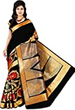 Weavedeal Women's Silk Saree (Black)