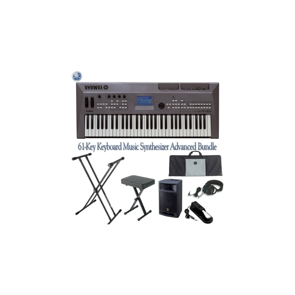 Yamaha MM6 61 Key Keyboard Music Synthesizer with Bundle