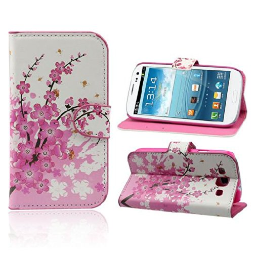 Coromose Butterfly Flower Wallet Stand Flip Leather Case Cover for Samsung Galaxy S3 III I9300 (Galaxy 3 Phone Cases Wallet compare prices)