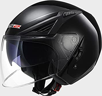 LS2 OF586 Bishop Solid Black Motorcycle Helmet
