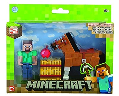 Minecraft Steve with Horse Action Figure (2-Pack) by Jazwares Domestic