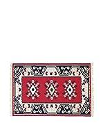 Tapis a Porter Alfombra Doubleface Milas Rojo/Marfil/Multicolor 100 x 300 cm