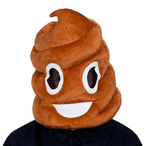 Adults-Plush-Poop-Emoticon-Emoji-Smiley-Face-Funny-Head-Mask-Halloween-Accessory