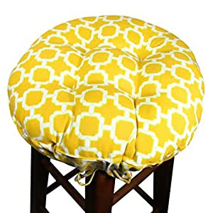 15 Round Bar Stool Cover With Adjustable Drawstring Yoke