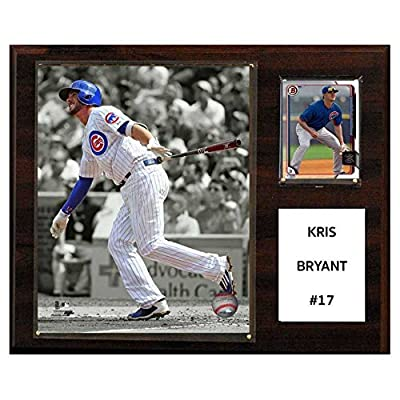 C and I Collectables MLB 15W x 12H in. Kris Bryant Chicago Cubs Player Plaque