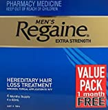 REGAINE ( Rogaine ) Men 5% Extra Strength 4 MONTHS PACK