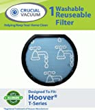 Hoover Windtunnel T-Series Rewind Long Life Washable & Reusable Pre-Filter; Replaces Hoover Part # 303173001; Designed & Engineered by Crucial Vacuum