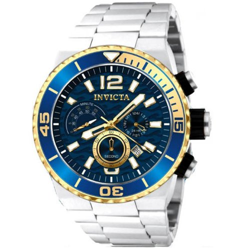 15bd69530 Invicta Pro Diver Chronograph Blue Dial Stainless Steel Mens Watch 12993