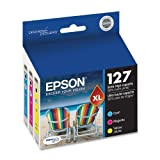 Epson DURABrite T127520 Ultra 127 Extra High-capacity Inkjet Cartridge Color Multipack-Cyan Magenta Yellow