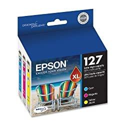 Epson DURABrite T127520 Ultra 127 Extra High-capacity Inkjet Cartridge Color Multipack-Cyan/ Magenta/ Yellow