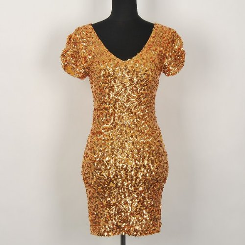 Gorgeous Prom Lycra Mini Dress With Sparkling Sequins Available Sizes: 0, 2, 4, 6