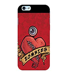 printtech Zombies Heart Back Case Cover for Apple iPhone 6 Plus