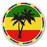NI378 **2-Pack** Jamaica Rasta Palm Trees Sticker/Decal | Premium Quality Vinyl Sticker | 4-Inches