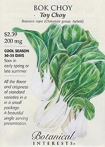 Amazon.com : Toy Choy Bok Choy Seeds - 200 mg - Botanical Interests
