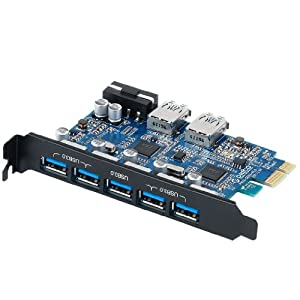 ORICO PVU3-5O2U Monster USB3.0 7 - Port PCI Express Card with VL800 and VL812 USB3.0 Controller