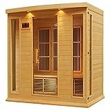 DYNAMIC SAUNAS AMZ-MX-K406-01 Maxxus Monteceillo 4-Person Far Infrared Sauna
