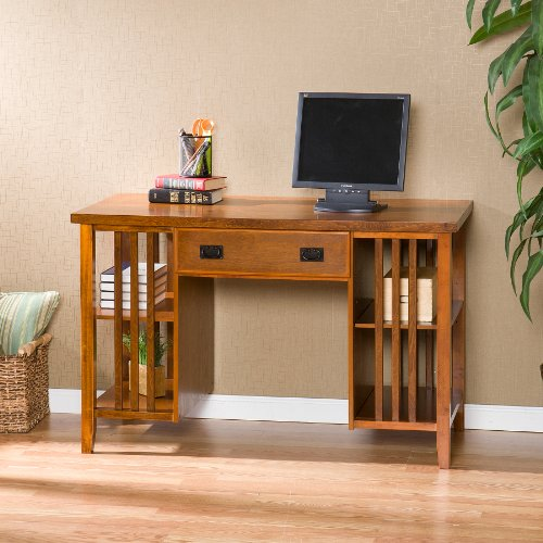 Buy Low Price Comfortable Southern Enterprises (SEI) HO9144 – Quintana Mission Walnut Computer Desk (B004UR5590)