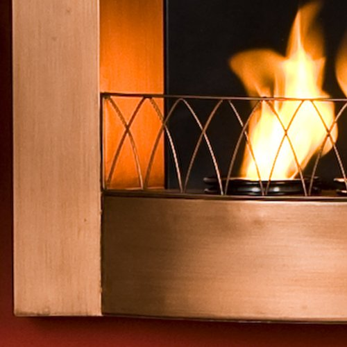 SEI Copper Wall-Mountable Gel Fuel Fireplace