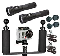 BigBlue Underwater 250 Lumen LED Light System Kit for GoPro Action Video Camera