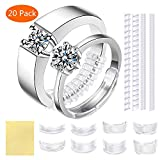 Ring Size Adjuster for Loose Rings - 20 Pack 7 Sizes Invisible Jewelry Sizer, Mandrel for Making Jewelry Guard, Spacer, Sizer, Fitter - Spiral Silicone Tightener Set (Tamaño: 20 Pcs)