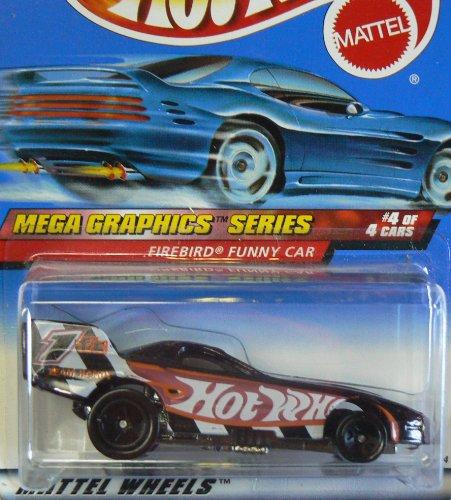 Mattel Hot Wheels 1999 1:64 Scale Mega Graphics Series Firebird Funny Car Die Cast Car 4/4 - 1