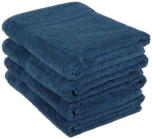 Superior Egyptian Cotton 4-Piece Bath Towel Set, Sapphire