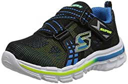 Skechers Kids Nitrate-Realms TD Athletic Sneaker (Toddler), Black/Yellow/Blue, 7 M US Toddler