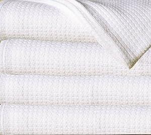 Sun Yin 100-Percent Cotton Twin Blanket, White