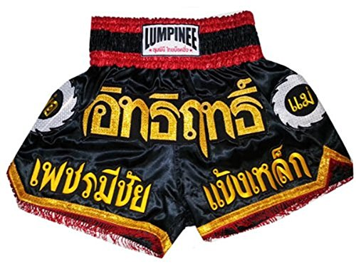 Lumpinee-Super-Power-Series-Black-Red-Color-Muay-Thai-Kick-Boxing-Shorts-LUM-017