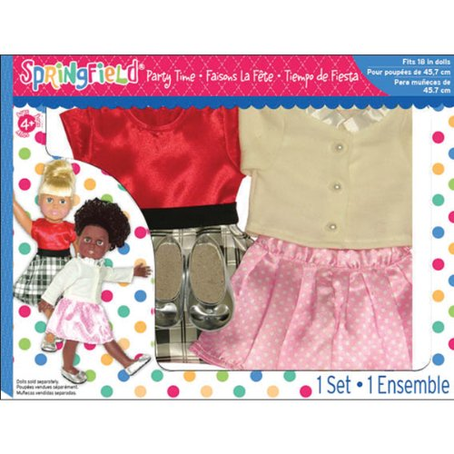 Springfield collection by fibre craft party time set for Fibre craft 18 inch doll