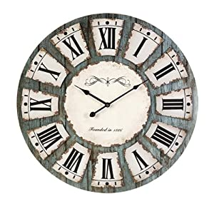 Large Decorative Roman Numeral Design Unique Wall Clock